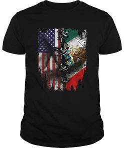Mexican And American Flag  Unisex