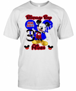 Mickey Mouse Birthday Boy Oh Boy 3 Aiden T-Shirt Classic Men's T-shirt
