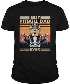 Motorcycle Best Pitbull Dad Ever Vintage  Unisex