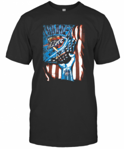 Oklahoma City Thunder American Flag Independence Day T-Shirt Classic Men's T-shirt