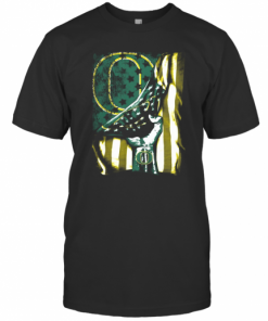 Oregon Ducks American Flag Independence Day T-Shirt Classic Men's T-shirt