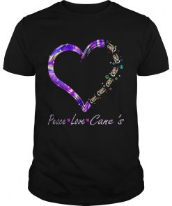 Peace Love Raising Canes Chicken Fingers Heart  Unisex