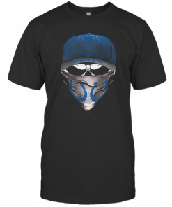 Skull Mask Indianapolis Colts Football T-Shirt Classic Men's T-shirt