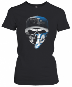 Skull Mask Oakland Raiders And Los Angeles Dodgers T-Shirt Classic Women's T-shirt