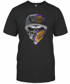 Skull Mask Oakland Raiders And Los Angeles Lakers T-Shirt Classic Men's T-shirt