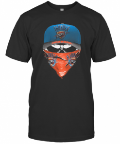 Skull Mask Oklahoma City Thunder Basketball T-Shirt Classic Men's T-shirt