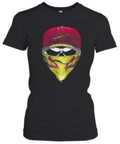 Skull Mask St. Louis Cardinals Baseball T-Shirt Classic Women's T-shirt