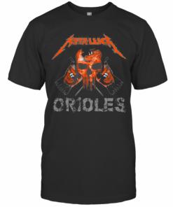 Skull Metallica Baltimore Orioles Flag T-Shirt Classic Men's T-shirt