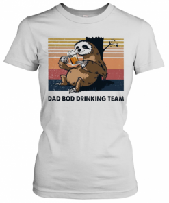 Sloth Beer Dad Bod Drinking Team Vintage T-Shirt Classic Women's T-shirt