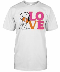 Snoopy Hug Heart Love Dunkin Donuts T-Shirt Classic Men's T-shirt