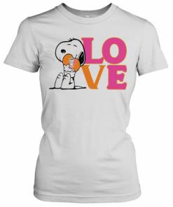 Snoopy Hug Heart Love Dunkin Donuts T-Shirt Classic Women's T-shirt