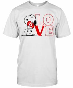 Snoopy Hug Heart Love Target T-Shirt Classic Men's T-shirt