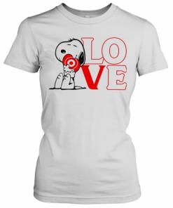 Snoopy Hug Heart Love Target T-Shirt Classic Women's T-shirt