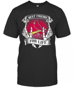 St. Louis Cardinals Best Friend For Life Seketon T-Shirt Classic Men's T-shirt