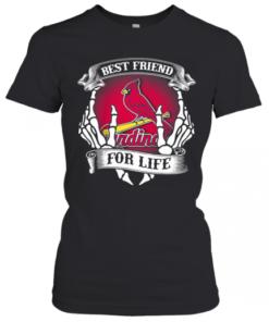 St. Louis Cardinals Best Friend For Life Seketon T-Shirt Classic Women's T-shirt