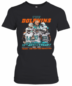 The Miami Dolphins 55Th Anniversary 1966 2021 Thank You For The Memories T-Shirt Classic Women's T-shirt