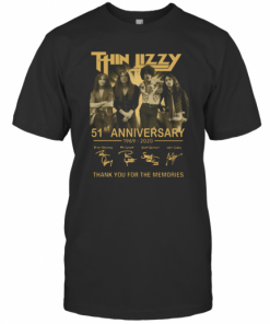 Thin Lizzy 51Th Anniversary 1969 2020 Signature Thank You For The Memories T-Shirt Classic Men's T-shirt