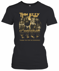 Thin Lizzy 51Th Anniversary 1969 2020 Signature Thank You For The Memories T-Shirt Classic Women's T-shirt