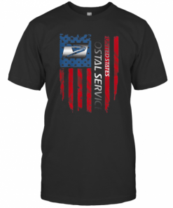 United States Postal Service Logo American Flag Independence Day T-Shirt Classic Men's T-shirt