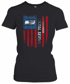 United States Postal Service Logo American Flag Independence Day T-Shirt Classic Women's T-shirt
