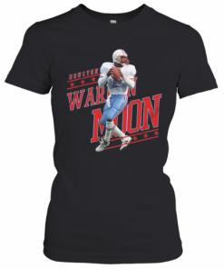 Warren No.1 Houston Football Moon T-Shirt Classic Women's T-shirt