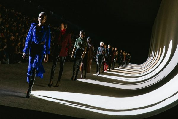 Saint Laurent's fall 2020 ready-to-wear runway during Paris fashion week in March