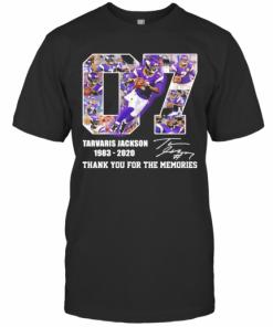 07 Tarvaris Jackson 1983 2020 Thank You For The Memories Signature T-Shirt Classic Men's T-shirt