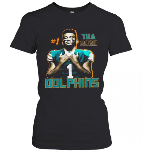 1 Tua Tagovailoa 2020 Miami Dolphins Football T-Shirt Classic Women's T-shirt