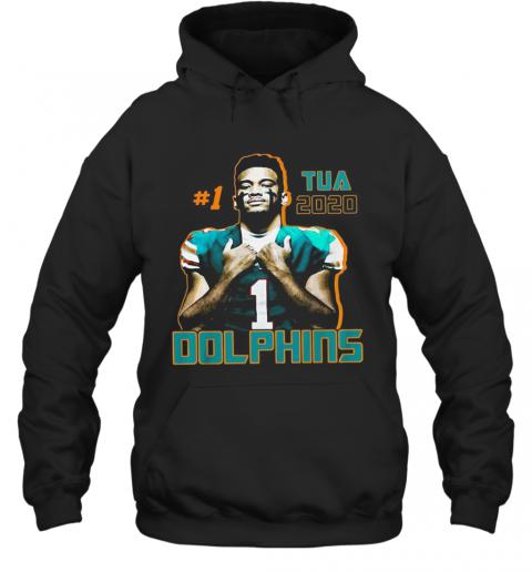 1 Tua Tagovailoa 2020 Miami Dolphins Football T-Shirt Unisex Hoodie