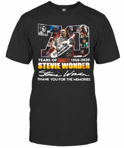 70 Years Of Stevie Wonder 1950 2020 Thank You For The Memories Signature T-Shirt Classic Men's T-shirt