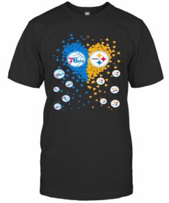 76Ers And Steelers True Love Heart T-Shirt Classic Men's T-shirt