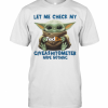 Baby Yoda Hug Fedex Let Me Check My Giveashitometer Nope Nothing T-Shirt Classic Men's T-shirt