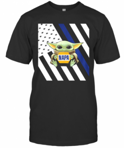 Baby Yoda Hug Napa American Flag T-Shirt Classic Men's T-shirt