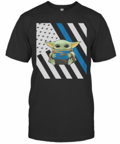 Baby Yoda Hug USPS American Flag T-Shirt Classic Men's T-shirt
