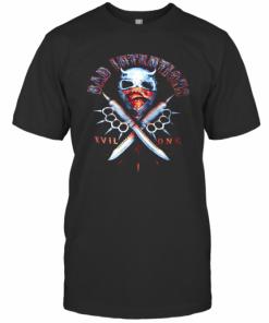 Bad Intentions Spiked Brass Knuckles Biker T-Shirt Classic Men's T-shirt