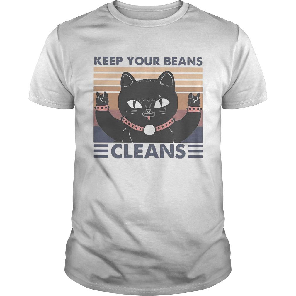 Cat keep your beans cleans vintage retro Unisex