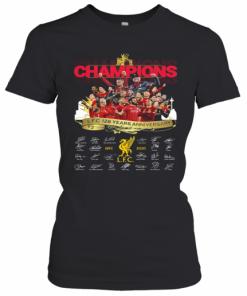 Champions Liverpool Fc 128 Years Anniversary 1892 2020 Signatures T-Shirt Classic Women's T-shirt