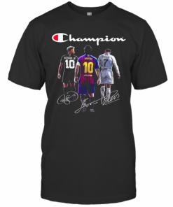 Champions Neymar Jr Lionel Messi And Cristiano Ronaldo T-Shirt Classic Men's T-shirt