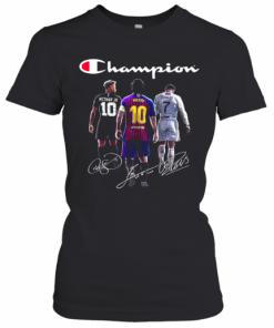 Champions Neymar Jr Lionel Messi And Cristiano Ronaldo T-Shirt Classic Women's T-shirt