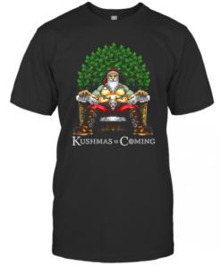 Christmas Santa Kushmas Is Coming T-Shirt Classic Men's T-shirt