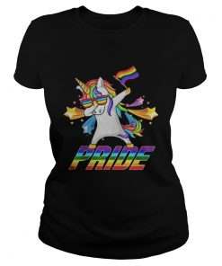 Dabbing Unicorn LGBT Gay Pride  Classic Ladies