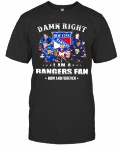 Damn Right I Am A Rangers Fan Now And Forever Stars T-Shirt Classic Men's T-shirt