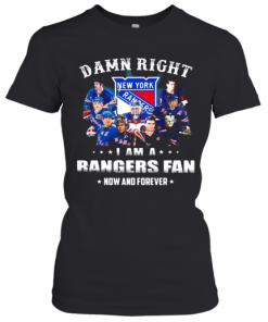 Damn Right I Am A Rangers Fan Now And Forever Stars T-Shirt Classic Women's T-shirt