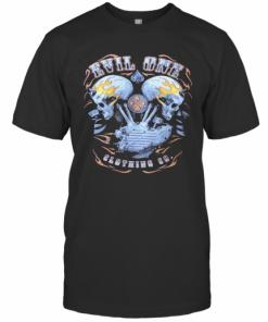Demon Head Flaming Skulls Biker T-Shirt Classic Men's T-shirt
