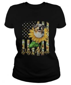 Dogs Name American Flag Independence Day Sun Flower  Classic Ladies