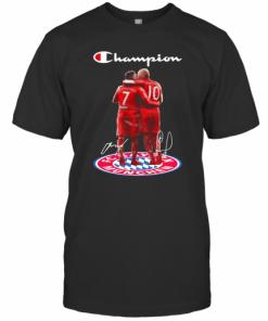 Franck Ribery And Arjen Robben Champion Bayern Munich Signature T-Shirt Classic Men's T-shirt