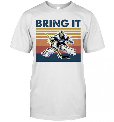 Hockey Bring It Vintage Retro T-Shirt Classic Men's T-shirt