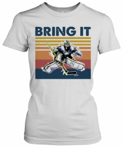 Hockey Bring It Vintage Retro T-Shirt Classic Women's T-shirt
