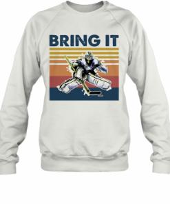 Hockey Bring It Vintage Retro T-Shirt Unisex Sweatshirt