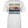 I Don't Snore I Dream I'm A Snowmobile Vintage Retro T-Shirt Classic Men's T-shirt